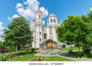 Saint Spyridon the New Church, a romanian orthodox church in Bucharest, Romania built in 1860 in gothic style with moldavian art elements and painted by romanian painter Gheorghe Tattarescu