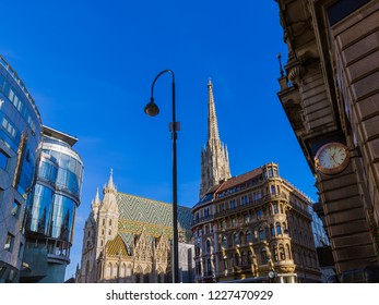 Saint Stephan cathedral in Vienna Austria - cityscape architecture background
