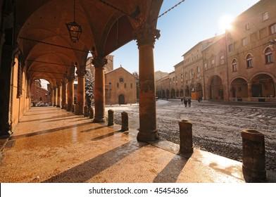 Saint Stephen square, Bologna, Italy