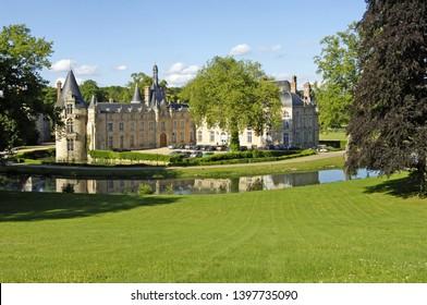 Saint Symphorien le Chateau; France - june 13 2018 : the renaissance castle