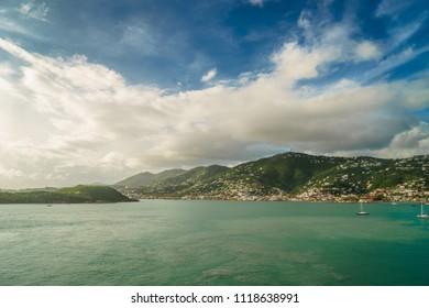 Saint Thomas, US Virgin Islands coastline of Saint Thomas
