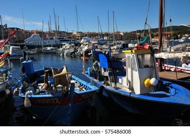 Saint Tropez; France - april 18 2016 : the picturesque port