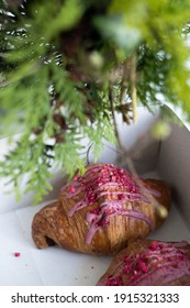 Saint Valentine's Day Croissant with Ruby Chocolate