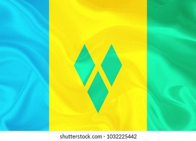 saint vincent and the grenadines fabric flag background