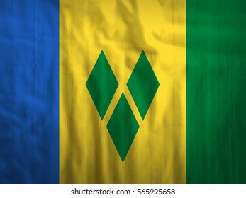Saint Vincent and Grenadines fabric flag background