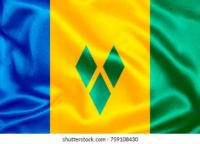 saint vincent and the grenadines fabric flag