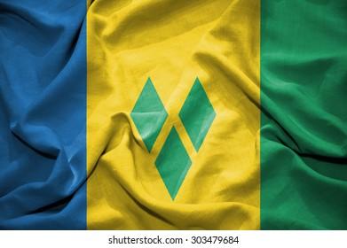 Saint Vincent and the Grenadines flag. illustration