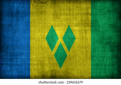 Saint Vincent and the Grenadines flag pattern,retro vintage style