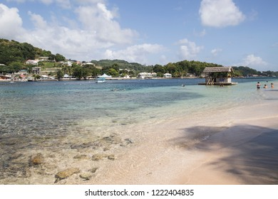 SAINT VINCENT AND THE GRENADINES ON DEC 2017: Young island is a Caribbean island resort located near Kingston.