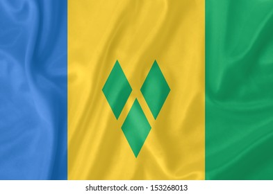 Saint Vincent and the Grenadines waving flag
