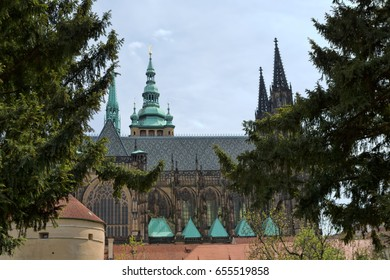 Saint Vitus Cathedral, at UNESCO protected Prague Castle Complex, the largest ancient castle in the world, the seat of current President and Czech Kings in the past