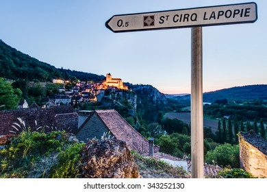 Saint-Cirq-Lapopie, member of the Les Plus Beaux Villages de France (The most beautiful villages of France) association in Lot, south-western France.
