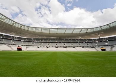 SAINT-DENIS, FRANCE - JUNE 4, 2014 - View of Stade de France, the most popular sport stadium in France near Paris