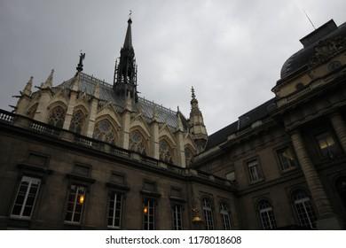 Sainte Chapelle In Paris, famous gothic chapel