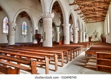 Sainte Marie de Re, France - september 25 2016 : the Notre Dame church