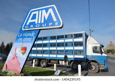 Sainte-Cecile, Normandy, France, April 2015. Slaughterhouse AIM (Abattoirs Industriels de la Manche) who goes into insolvent liquidation in July 2018.