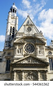 The Saint-Etienne-du-Mont church in Paris, France