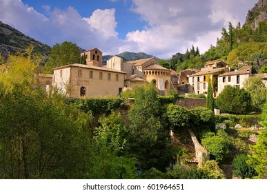 Saint-Guilhem-le-Desert, medieval village and Abbey in southern France