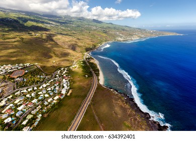 Saint-Leu, La Réunion from sky