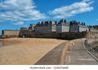 Saint-Malo is a port city in Brittany, in northwestern France. The old town is surrounded by high granite walls.