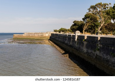Saint-Martin-de-Re, France. Walls and ramparts of the Citadel (la Citadelle), a World Heritage Site since 2008 as part of the Fortifications of Vauban