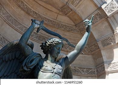 saint-michel fountain in paris