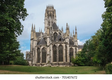 Saint-Ouen Abbey Church, a Gothic Roman Catholic church in Rouen, Normandy, France
