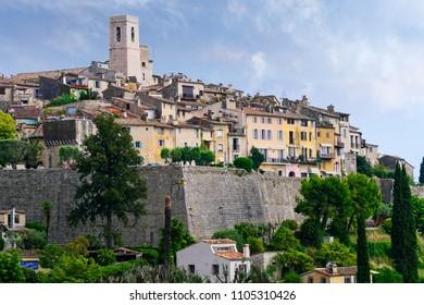 Saint-Paul-de-Vence, a old historic village in France.