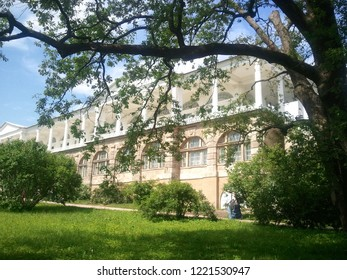 Saint-Peterburg, Russian Federation - June 22, 2012: one of the beautiful garden in the Saint-Peterburg. The perfect shot of the nature and building.