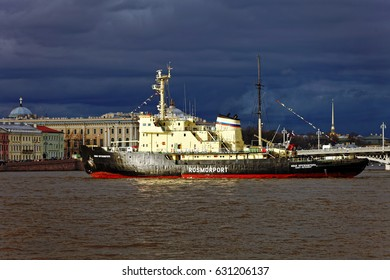 SAINT-PETERSBURG, RUSSIA - 30 APRIL2017: Icebreakers festival in St. Petersburg, Russia. Icebreaker IVAN KRUZENSHTERN.