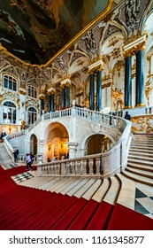 SAINT-PETERSBURG, RUSSIA — August 13, 2018: Interior of the State Hermitage Museum. The Winter Palace.