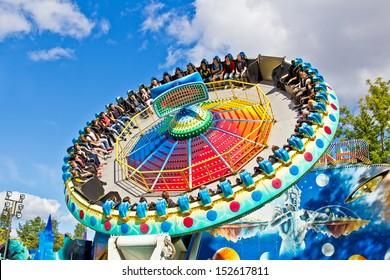 """SAINT-PETERSBURG, RUSSIA - AUGUST 24: Amusement Park """"Divo Ostrov"""" August 24, 2013 in Saint-Petersburg, Russia"""