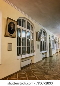 SAINT-PETERSBURG, RUSSIA - december 2017: The Twelve Colleges building, russian excursion museum. The main building of the Petersburg University.