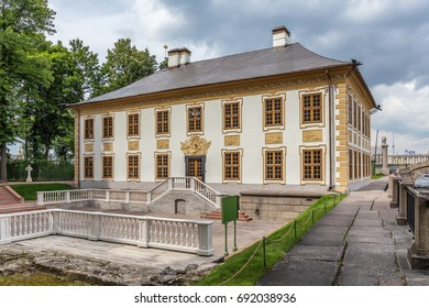 SAINT-PETERSBURG, RUSSIA - JULY 28, 2017: Summer Palace of Peter the Great in the Summer Garden in St. Petersburg