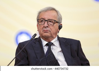 SAINT-PETERSBURG, RUSSIA - JUN 16, 2016: St. Petersburg International Economic Forum SPIEF-2016. President of the European Commission Jean-Claude Juncker