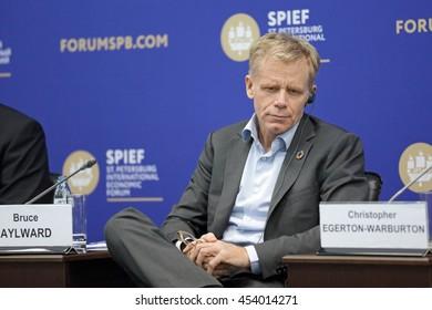 SAINT-PETERSBURG, RUSSIA - JUN 16, 2016: St. Petersburg International Economic Forum SPIEF-2016. Bruce Aylward, Acting Executive Director, Outbreaks and Health Emergencies