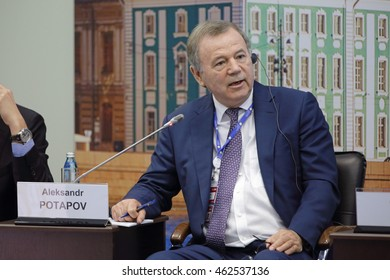 SAINT-PETERSBURG, RUSSIA - JUN 17, 2016: St. Petersburg International Economic Forum SPIEF-2016. Aleksandr Potapov, Director, N.N. Burdenko Research Institute of Neurosurgery