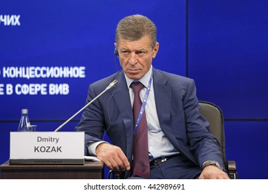 SAINT-PETERSBURG, RUSSIA - JUN 18, 2016: St. Petersburg International Economic Forum SPIEF-2016. Dmitry Nikolayevich Kozak - Deputy Prime Minister of Russia