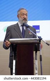 SAINT-PETERSBURG, RUSSIA - JUN 18, 2016: St. Petersburg International Economic Forum SPIEF-2016. Artur Chilingarov - famous Armenian-Russian polar explorer