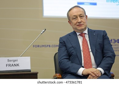 SAINT-PETERSBURG, RUSSIA - JUN 18, 2016: St. Petersburg International Economic Forum SPIEF-2016. Sergey Frank, President and CEO, Sovcomflot