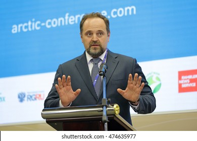 SAINT-PETERSBURG, RUSSIA - JUN 18, 2016: St. Petersburg International Economic Forum SPIEF-2016. Sergey Donskoy, Minister of Natural Resources and Environment of the Russian Federation