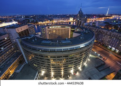 SAINT-PETERSBURG, RUSSIA, JUNE 21, 2015: Business center in St. Petersburg; View in the late evening