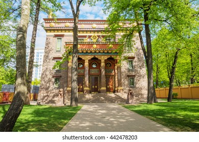 SAINT-PETERSBURG, RUSSIA - MAY 16, 2016: The Datsan Gunzechoinei is a Buddhist temple. It is the northernmost Buddhist temple in Russia