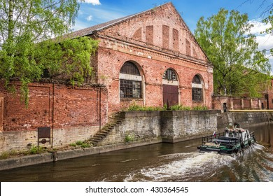 SAINT-PETERSBURG, RUSSIA - MAY 17, 2016: Building of forest barn (warehouse) of Kronstadt Admiralty built in the years 1794-1795, architect Vasily Bazhenov