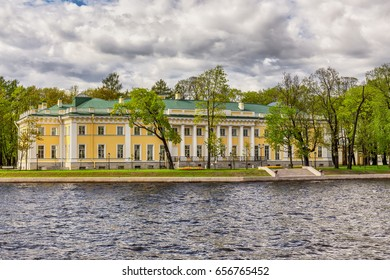 SAINT-PETERSBURG, RUSSIA - MAY 26, 2017: Kamennoostrovsky Palace, which is now Academy of talents for children, St. Petersburg