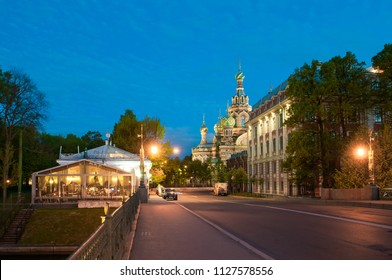 SAINT-PETERSBURG, RUSSIA - MAY 29, 2017: The Church of the Savior on Spilled Blood is one of the main sights of St. Petersburg, Russia