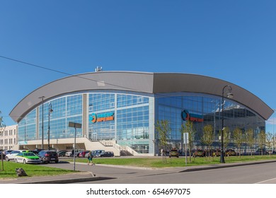 SAINT-PETERSBURG, RUSSIA - MAY 30, 2017: Sports complex SIBUR ARENA on Krestovsky island, St. Petersburg