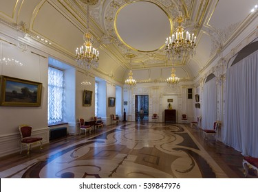 SAINT-PETERSBURG, RUSSIA - OCTOBER 1, 2016: The interior of the Banners hall of the Marble Palace, Russian Museum, St. Petersburg, Russia.