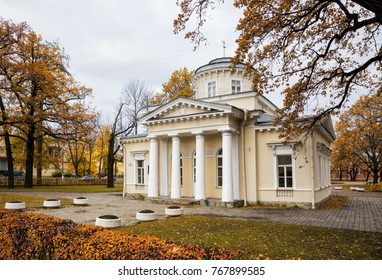 SAINT-PETERSBURG, RUSSIA - OCTOBER 20, 2017: Mansion of Lieutenant Strukov. An architectural monument of the XIX century, Saint-Petersburg, Russia