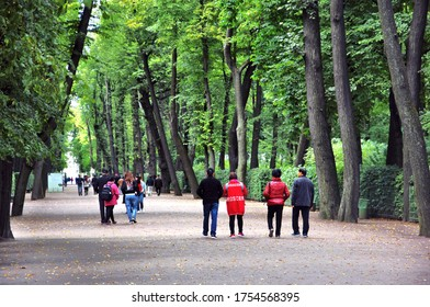 SAINT-PETERSBURG, RUSSIA - SEPTEMBER 18, 2019: View of The Summer Garden in Saint-Petersburg. Popular landmark.